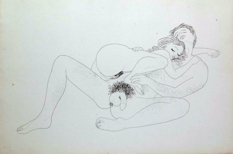 Art drawing erotic