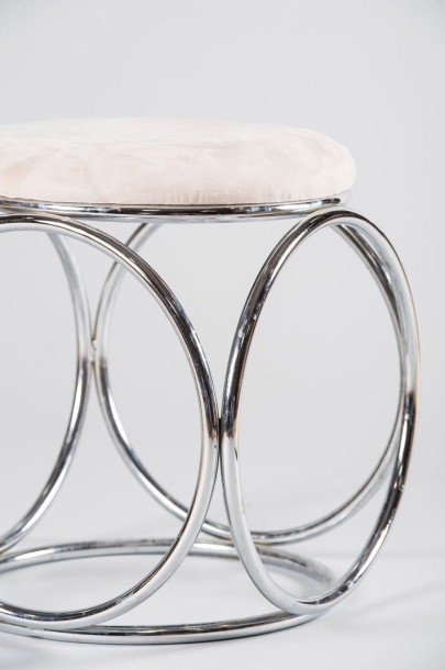 tabouret assise tissus
