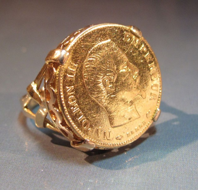 Bague en or napoleon