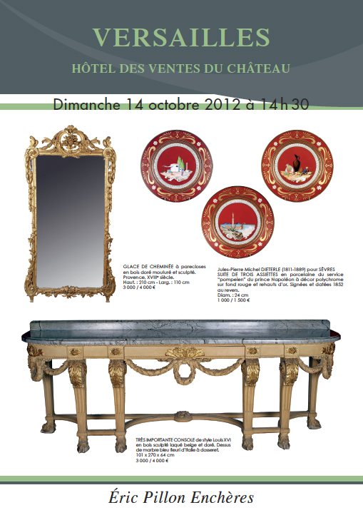 vente aux encheres argenterie tableaux anciens objets d art mobilier eric pillon ench res. Black Bedroom Furniture Sets. Home Design Ideas