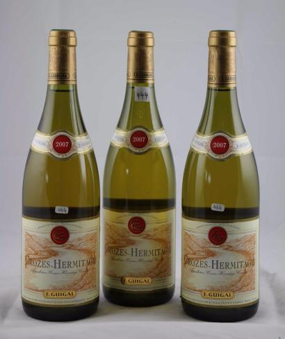 vente aux ench res 3 domaine guigal blanc crozes hermitage 2007 le lot. Black Bedroom Furniture Sets. Home Design Ideas