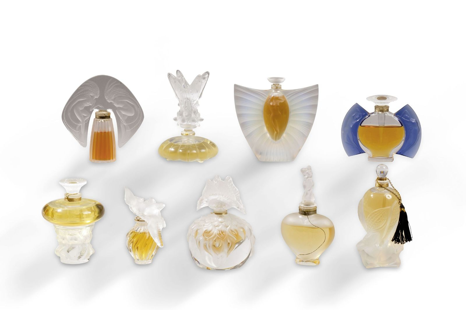 2000 Lalique «sylphide»Collection Flacon Opalescent Parfum En Cristal oBerdCxW