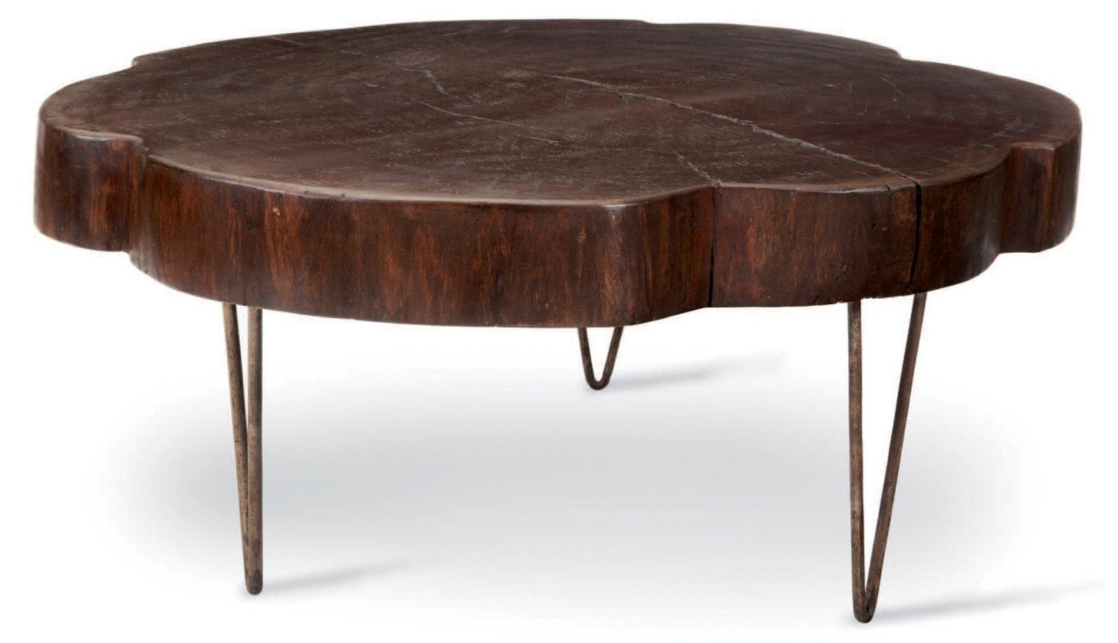 Table plateau tronc d arbre elegant table plateau tronc d for Table tronc d arbre