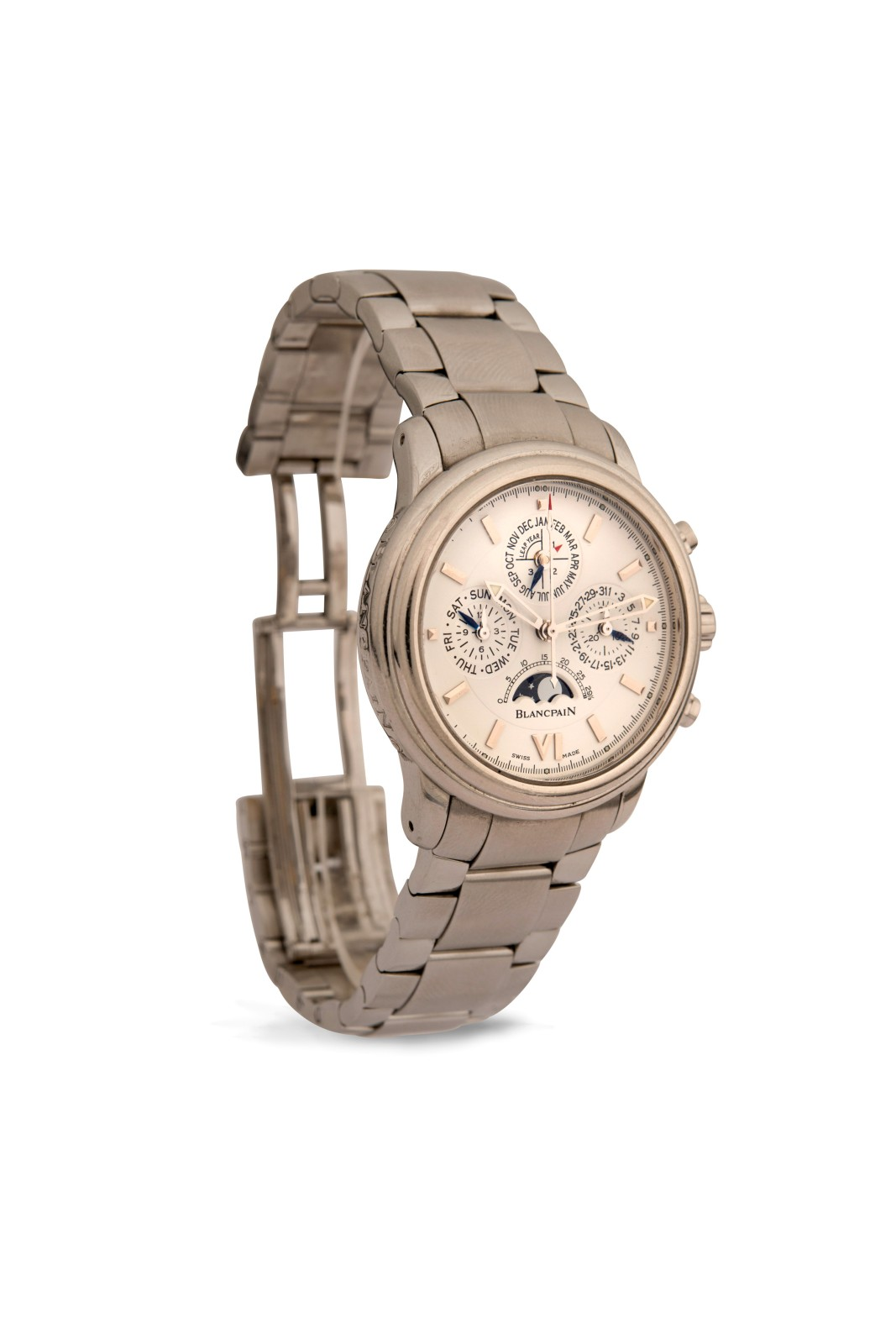RondeModèle BlancpainMontre Homme Homme RondeModèle BlancpainMontre BlancpainMontre ''leman''Ref2585Chrono ''leman''Ref2585Chrono WEYD29IeH