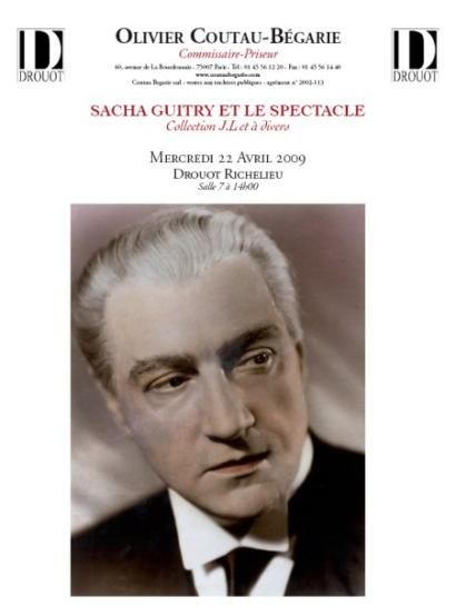 SACHA GUITRY ET LE SPECTACLE Collection J.L et à divers