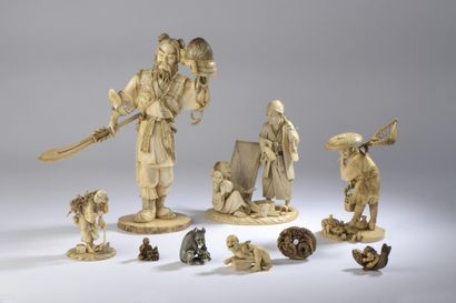 ART D'ASIE : COLLECTION DU DOCTEUR P. FISCHER - PASSION D'IVOIRE - NETSUKE & OKIMONO - 231 LOTS