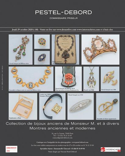 COLLECTION DE BIJOUX ANCIENS DE MONSIEUR M.