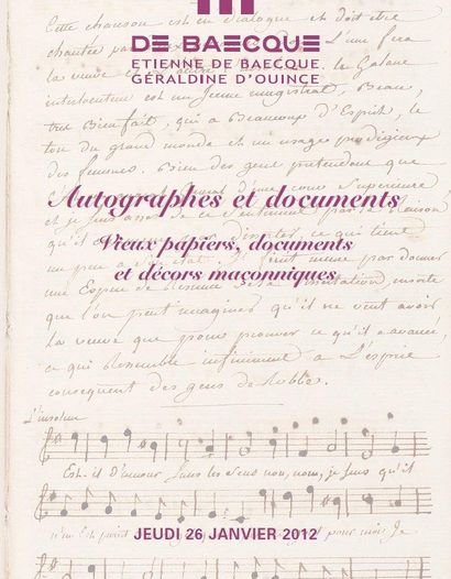 Autographes et documents