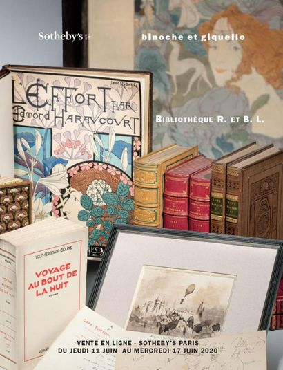 LIBRARY R. AND B. L.: ORIGINAL EDITIONS, AUTOGRAPHICS AND MANUSCRIPTS 19th AND 20th CENTURIES - sale online www.sothebys.com