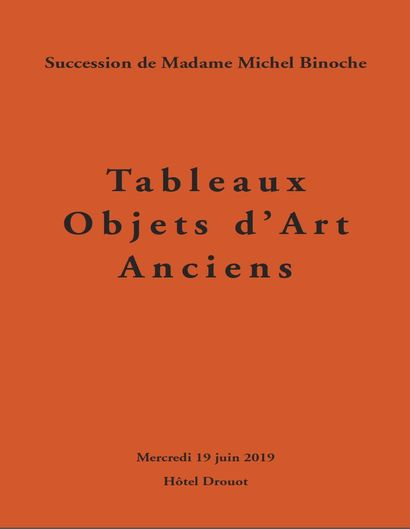 Furniture, works of arts, Estate of madame Michel Binoche, 1st sale, in association with Me Fraysse