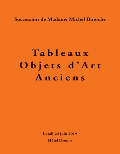 Furniture, works of arts, Estate of madame Michel Binoche, 2nd sale, in association with Me Fraysse