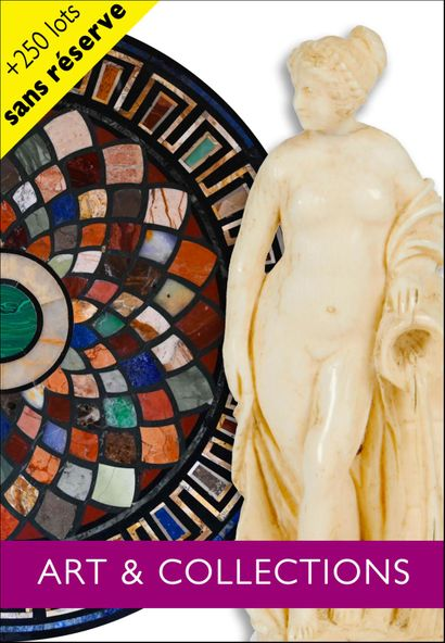 ART & COLLECTIONS: +250 lots without reserve price