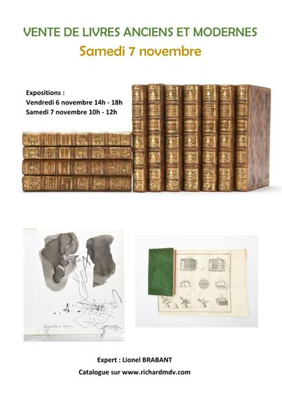 Ancient and modern books, photos, engravings