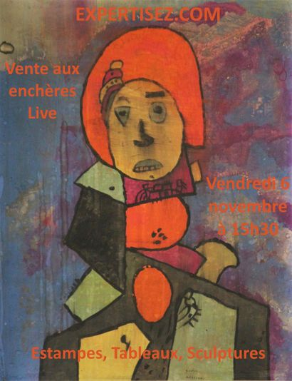 15H30 EXCLUSIVEMENT SUR INTERNET  Lithographies, tableaux, sculptures, modernes et contemporains.