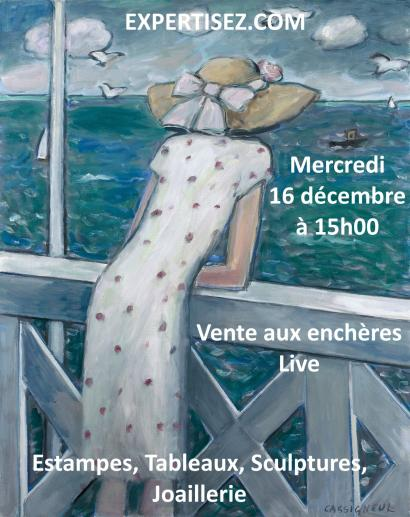 Lithographies, tableaux, sculptures, modernes et contemporains, joaillerie