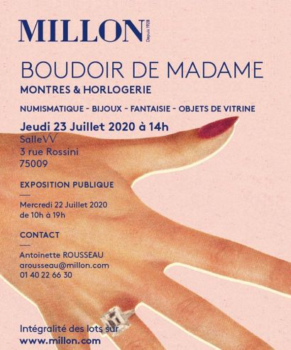 MADAME'S BOUDOIR [SALE IN PREPARATION, CATALOGUE OPEN]
