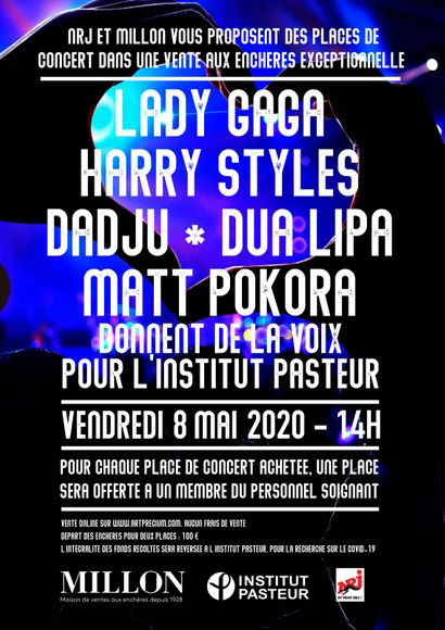 THE ARTISTS GIVE VOICE TO THE PASTEUR INSTITUTE-LADY GAGA- HARRY STYLES-DADJU-DUA LIPA-MATT POKORA