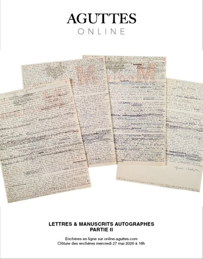ONLINE ONLY : AUTOGRAPH LETTERS & MANUSCRIPTS PART II