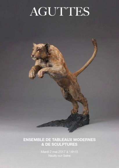 ENSEMBLE DE TABLEAUX MODERNES & DE SCULPTURES
