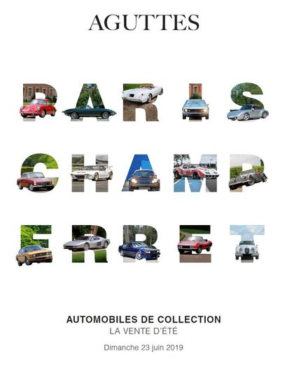 AUTOMOBILES DE COLLECTION VENTE D'ÉTÉ