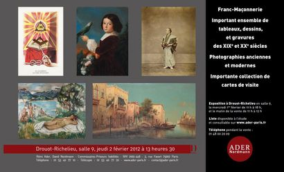 Vente listée - TABLEAUX - ESTAMPES - PHOTOGRAPHIES