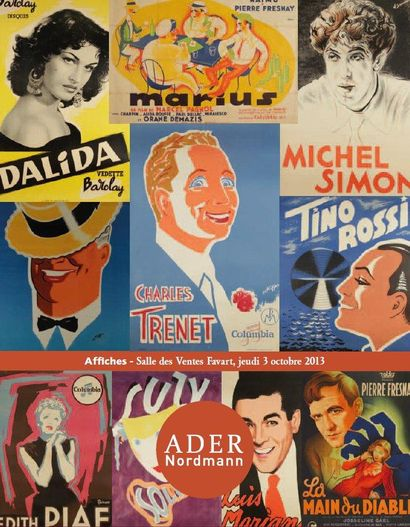 AFFICHES DE CINEMA, SPECTACLE, CHANSON : Collection André Bernard