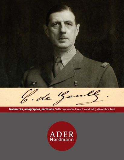 MANUSCRITS-AUTOGRAPHES-PARTITIONS-FONDS DE GAULLE