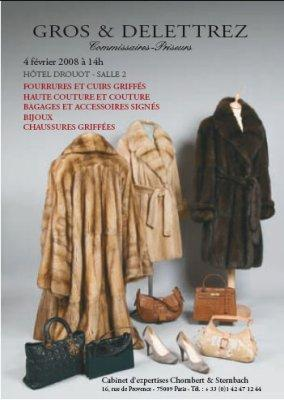 FOURRURES-CUIRS-BAGAGES-ACCESSOIRES-GARDE-ROBES GRIFFES