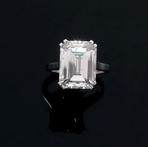 bague solitaire diamant rectangle