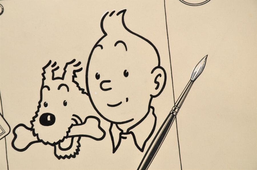 Auction Studio Herge Tintin Et Milou Album A Colorier