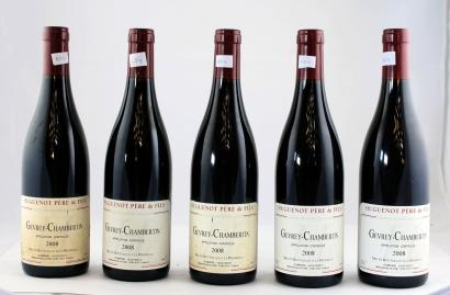 vente aux ench res 5 domaine huguenot gevrey chambertin 2008. Black Bedroom Furniture Sets. Home Design Ideas