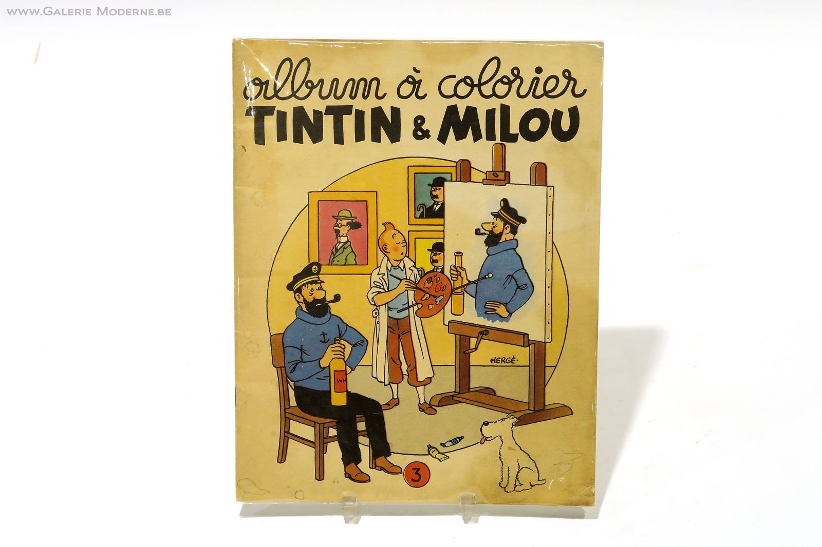 Auction Tintin Album A Colorier Tintin Et Milou Casterman