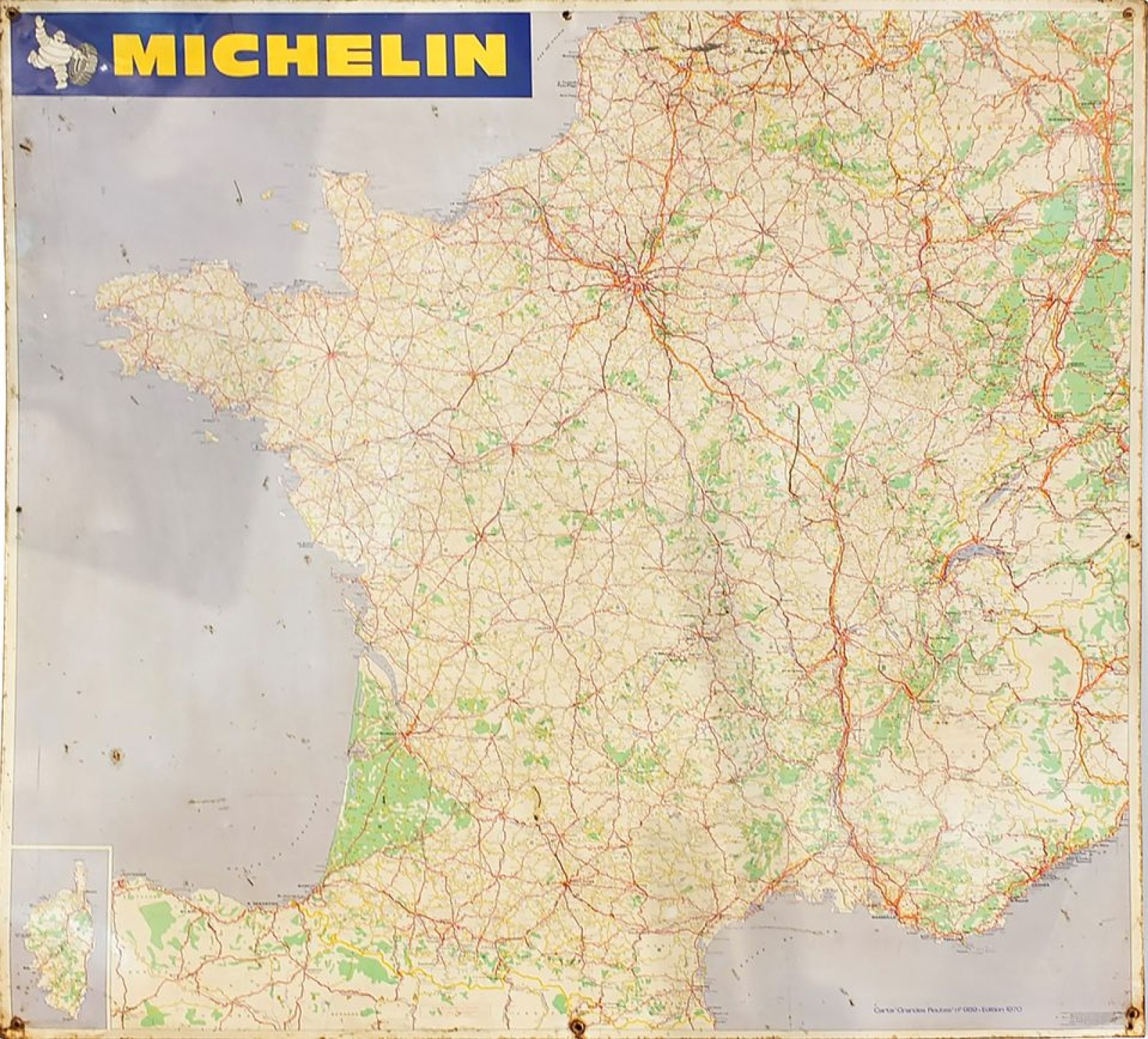 carte routière france michelin Auction Plaque tole carte routière de la France par MICHELIN…