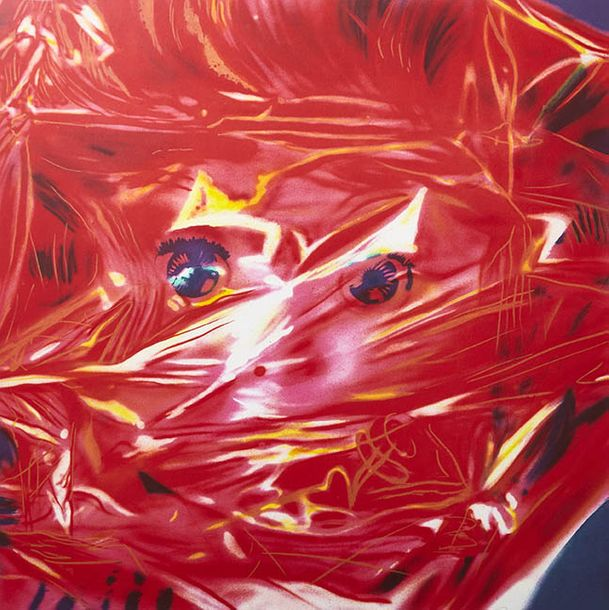 123-James ROSENQUIST (1933-2017)  Gift Wrapped Doll, 1993  Photolithographie  Signée,…