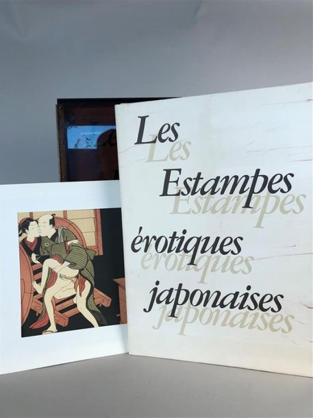 """Les estampes érotiques japonaises"". Edition Tchou, paris, 1973. Ensemble d'estampes…"
