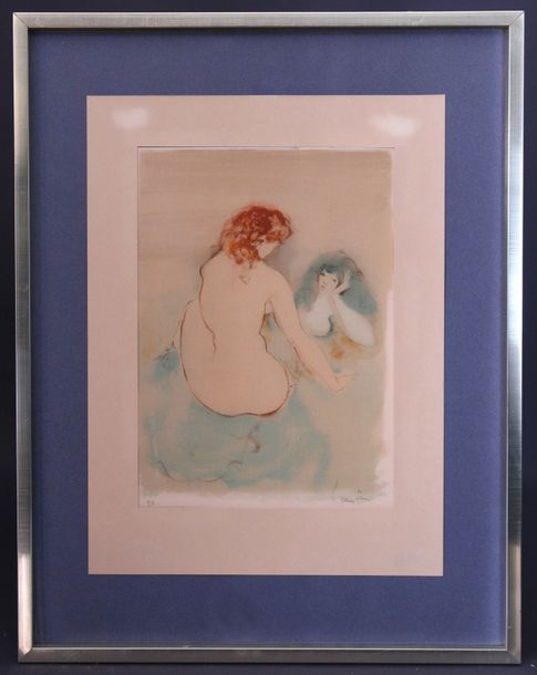 "FINI Léonor (1907-1996). ""Le couple"" ou ""La conversation"". Lithographie (37,5 x…"