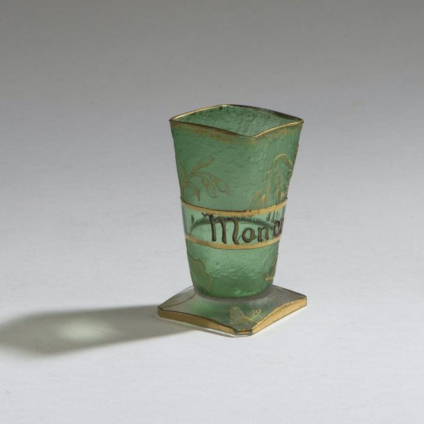 Daum Freres, Nancy, Shot glass 'Perce-Neige', c. 1895 Daum Freres, Nancy, Shot glass…