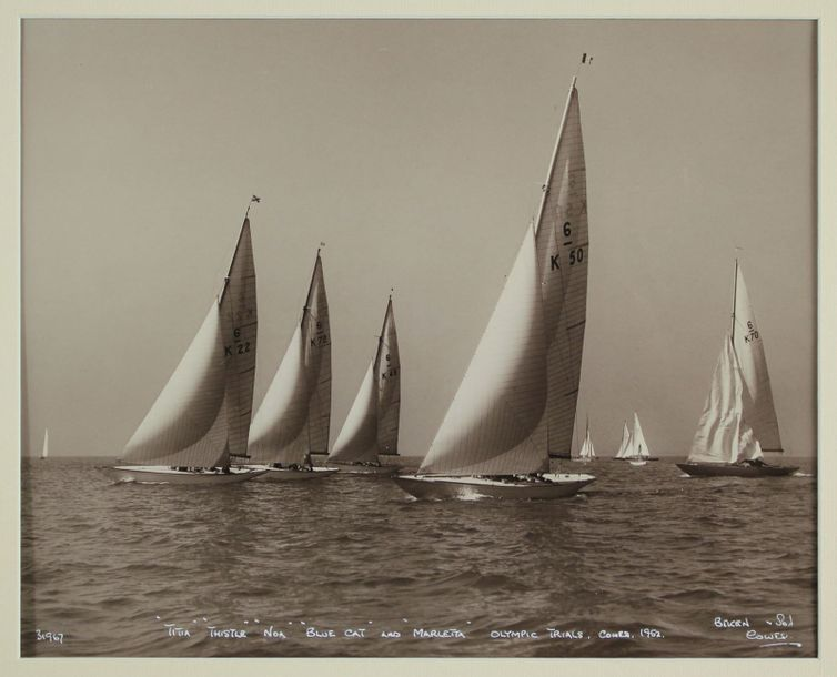 "BEKEN of Cowes. Epreuve argentique de la photographie de ""Olympic Trials, Cowes…"
