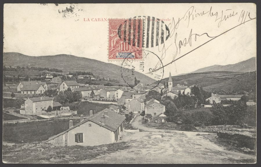 x St. Pierre et Miquelon Paquebot Mail North Sydney 1912 (June) p.p.c. to France,…