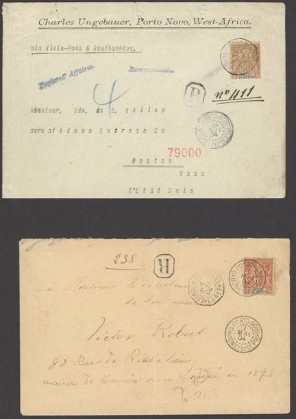 x Dahomey Benin 1894-1904, four covers and two cards from Porto Novo, x Dahomey Benin…