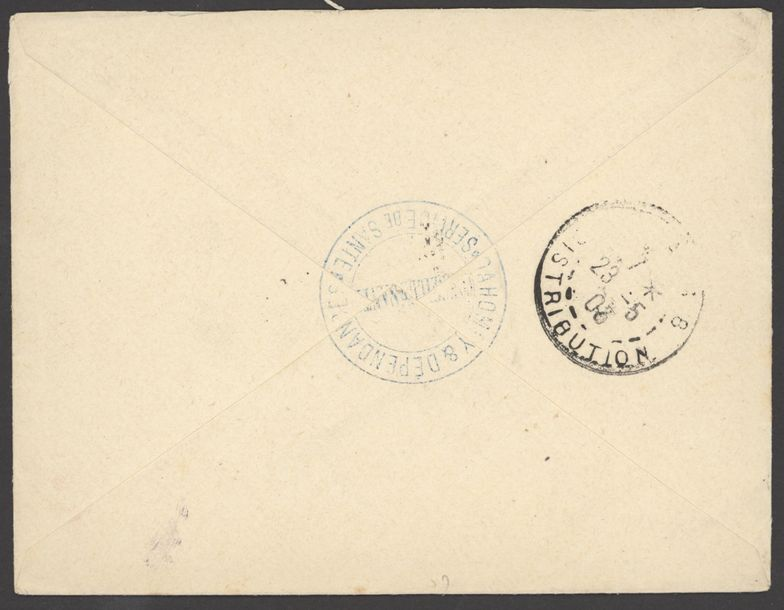 x Dahomey Benin Military Concession 1903 (29 April) stampless envelope endorsed Corps…