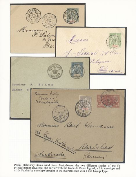 x Dahomey Dahomey and Dependencies Postal Stationery: 1898-1912, selection of seven…