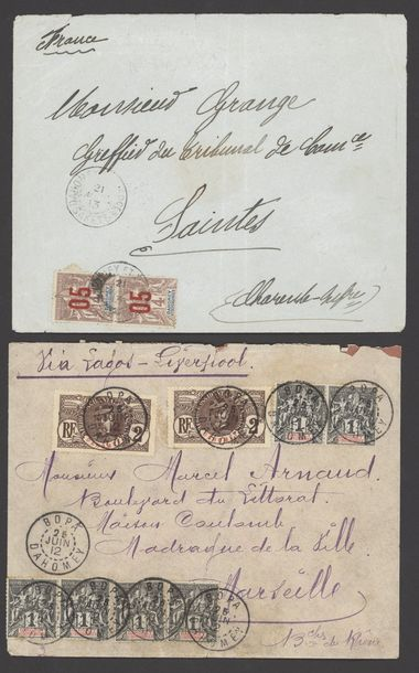 x Dahomey Dahomey and Dependencies Small Village Use Agouagon: 1910 (23 April) envelope…