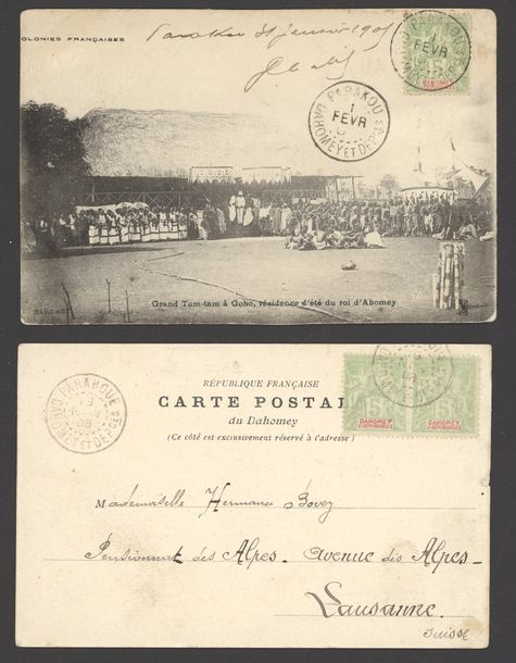 x Dahomey Dahomey and Dependencies Small Village Use Picture Post Cards: Selection…