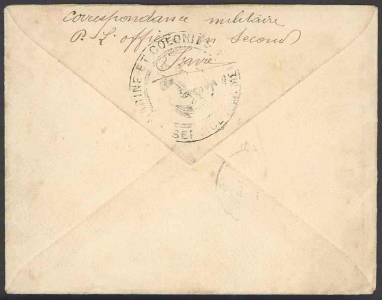 x French Congo Military Concession 1894 (20 June) envelope to Paris franked 15c.…