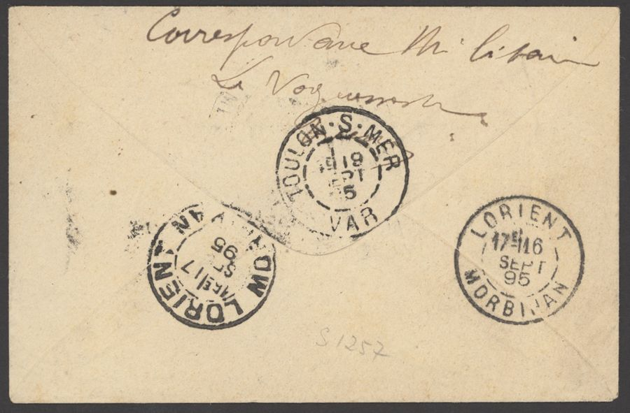 x French Congo Military Concession 1895 (21 Aug.) 5c. postal stationery envelope…