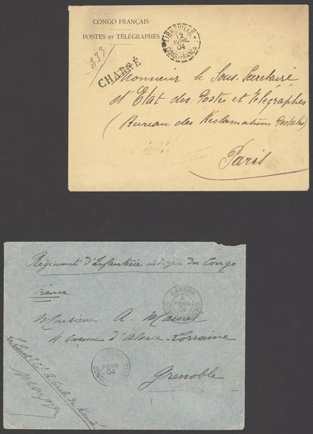 x French Congo Military Concession 1897-1913, selection of eleven covers, including…