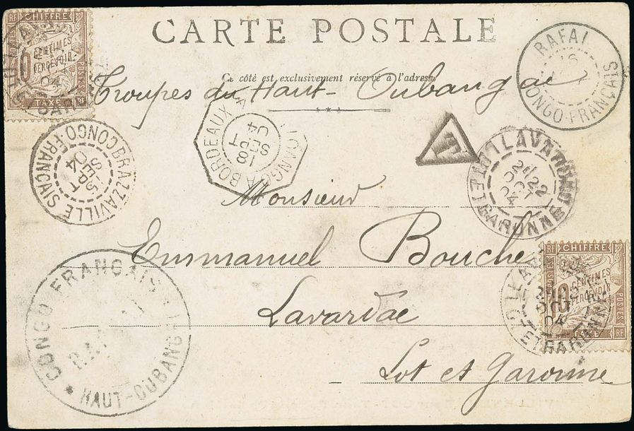 x French Congo Military Concession 1904 (15 Sept.) p.p.c. to Lavardae, endorsed Troupes…