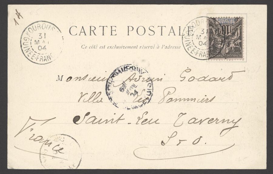 x French Guinea Small Village Use 1894-1908, eleven postcards, origins with x French…