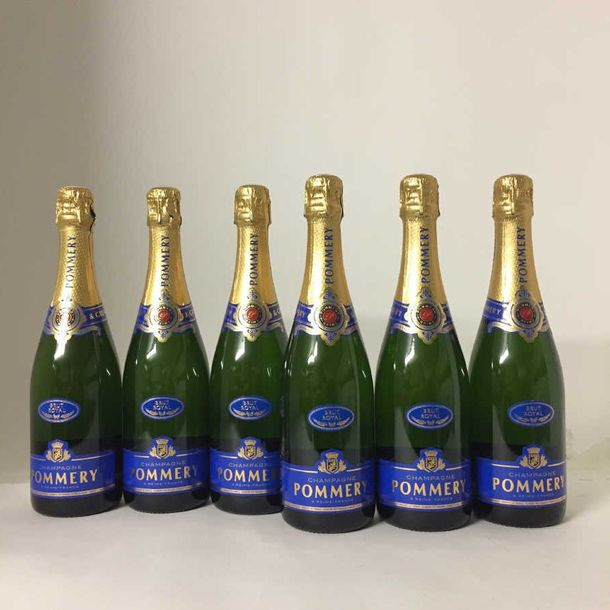 6 bouteilles : Champagne Pommery, brut Royal